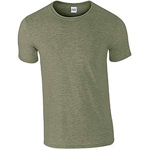 Best Epic Trends 41gc%2BmCC7%2BL._SS300_ Gildan Men's Softstyle Ringspun T-shirt - Large - Heather Military Green