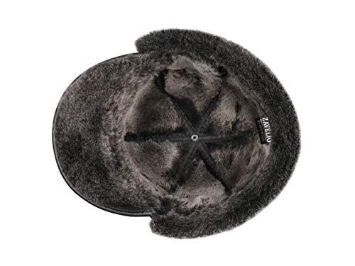 Jual Zavelio Men s Shearling Sheepskin Elmer Fudd Pilot Visor Hat ... c058ea0fe461
