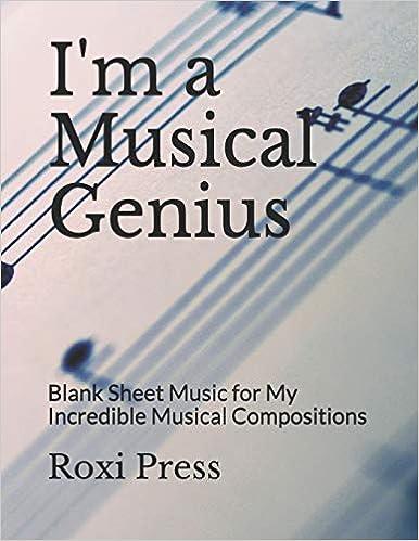Amazon.com: Im a Musical Genius: Blank Sheet Music for My ...