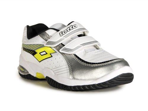 Lotto - Zapatillas de tenis de cuero para niño blanco weiss / gelbgrün