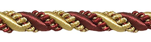 DÉCOPRO 10 Yard Value Pack of Large Burgundy Red, Gold 7/16