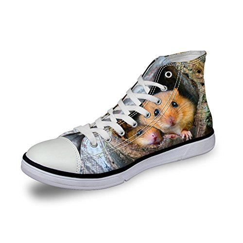Shoes DESIGNS Pugs Sneakers U Cute Women Animal FOR Ca5092ak Top High Canvas pxq1wA60