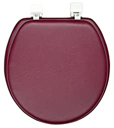Ginsey Home Solutions Soft Toilet Seat - Padded for Extra Comfort - For Standard Toilets - Includes All Necessary Components for Installation - Burgundy