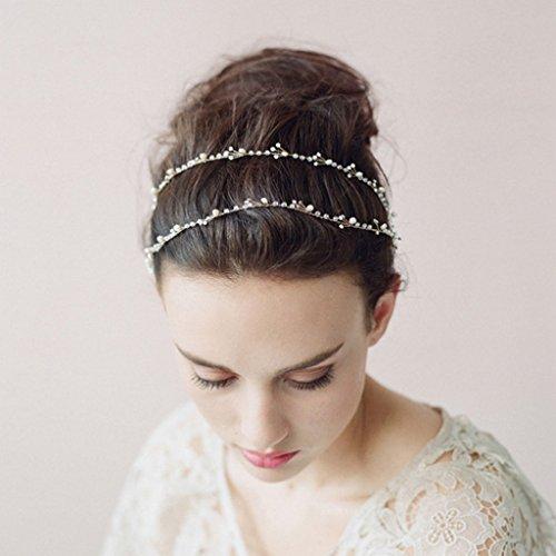 Dairyshop Sposa capelli nuziale capelli pezzo per il nuovo modo per damigella e damigelle sposa capelli cristallo vite accessori per capelli