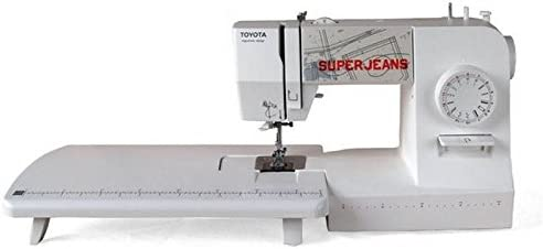 Toyota Super Jeans Color Blanco SUPERJ15 wepe Máquina de coser con zona de trabajo: Amazon.es: Hogar