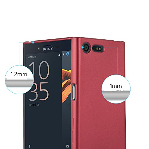 Cadorabo - Cubierta Protectora para >                                                  Sony Xperia X COMPACT                                                  < de Silicona TPU con Efecto Metálico Mate