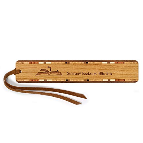 Reading - Books Quote Engraved Wooden Bookmark with Tassel - Personalized Version Also Available - Search B071LF47WC ()