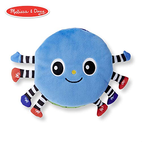 Melissa & Doug Soft Activity Book - Itsy-Bitsy Spider (Interactive Cloth Baby Book)