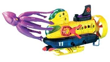 Mattel K9582 - Submarino de juguete con pulpo gigante, color amarillo