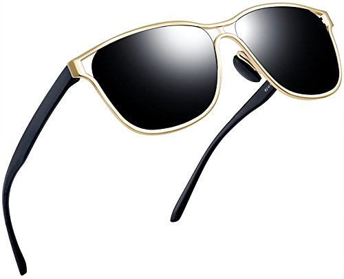 Joopin-Polarized Sunglasses Men Polaroid Driving Sun Glasses Mens Sunglass (Black Gold Pro)