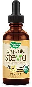 Nature's Way Organic Stevia, Vanilla, 2 Ounce