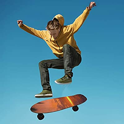 Ernest Congreve Hawaii Sunset 33 x 9 inch Skateboard Grip Tape Sheet Bubble Free Skateboard Longboard Griptape Sand Paper Non-Slip : Sports & Outdoors