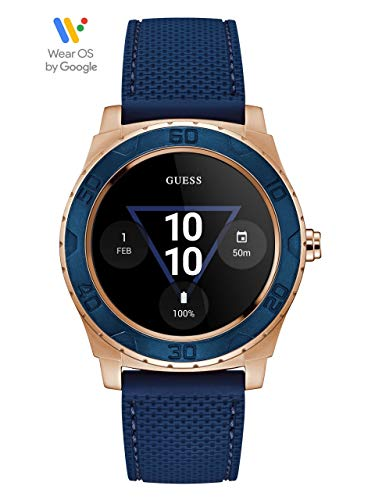 GUESS GUESS CONNECT Ace Blue and Gold-Tone Smartwatch Touch