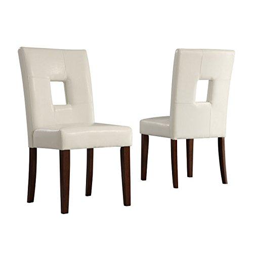 Home Creek Armand Keyhole Side Chair - Set of 2 white - Chair Keyhole Side