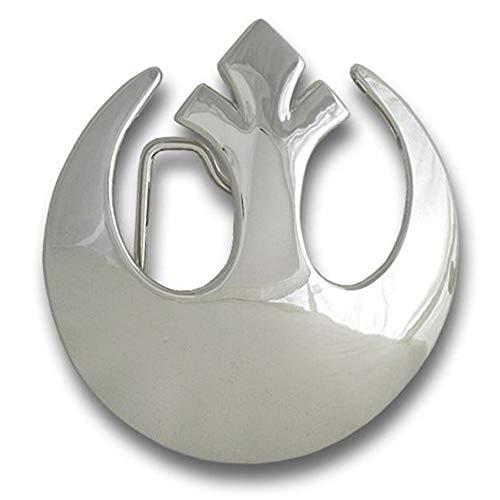 (Star Wars Belt Buckle Rebel Alliance Logo Silver Chrome Rock Rebel)
