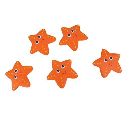 OUNONA 5Pcs Non Slip Bath Stickers Bathtub Treads Non Slip Tub Decals (Starfish)