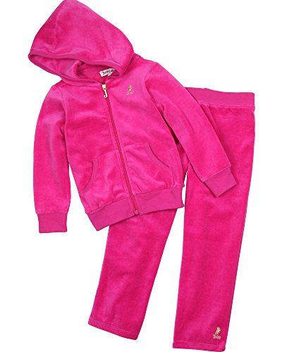 Juicy Couture Little Girls' Velour Jog Set (Toddler/Kid) - Sweet Raspberry