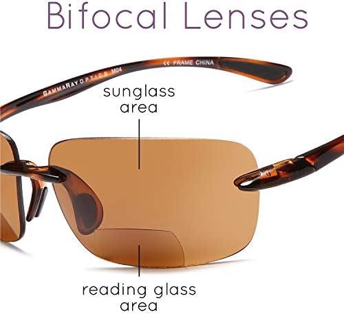 Gamma Ray Bifocal Sport Sunglasses for Men and Women 3 Pairs Sun Readers