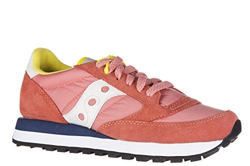 Saucony scarpe sneakers donna camoscio nuove jazz rosa