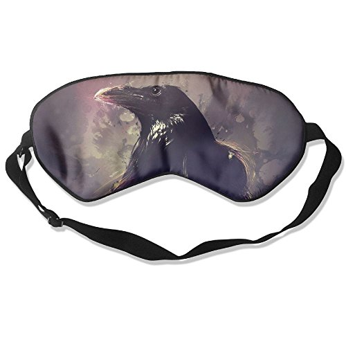 Goods Shops Mulberry Silk Sleeping Masks The Black Crow Eyepatch Eye Masks Adjustable Sleeping Eye Shade