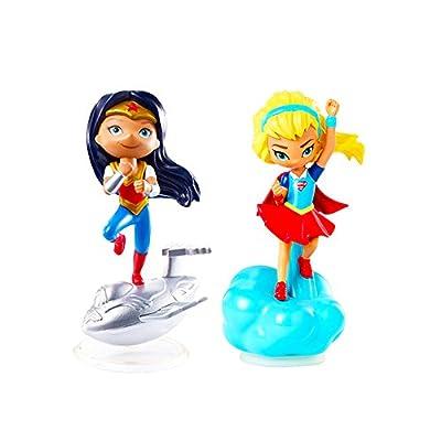 Mattel DC Super Hero Girls Mini Figure -- Wonder Woman and Supergirl Figure Set (Minifigures Pack)