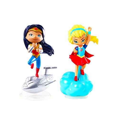 Mattel DC Super Hero Girls Mini Figure -- Wonder Woman and Supergirl Figure Set (Minifigures Pack)