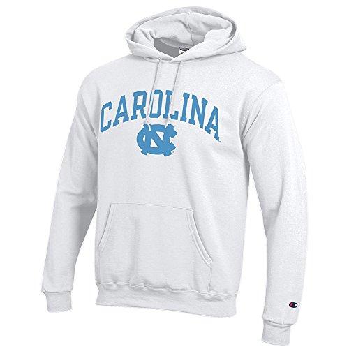 Elite Fan Shop North Carolina Tar Heels Hooded Sweatshirt Varsity White - XXL ()