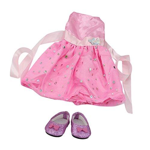 Sharplace Robe chaussures De 18'' Accessoires Vêtements Pour Poupée Sans Manches Poupée gxgprqw
