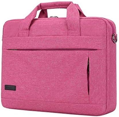 大容量のラップトップハンドバッグ用男性女性旅行ブリーフケースビジネスノートブックバッグ14 15インチ (Color : Rose red 15inch)