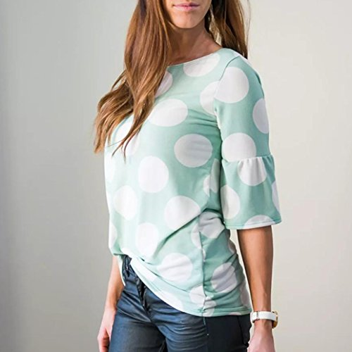 8c36d67c3105f vermers Clearance Sale ! Women T-Shirt Fashion Polka-Dot Bell Blouse Flare  Sleeve