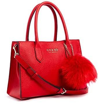 GUESS Women's Satchel Handbag, Red - VG745306
