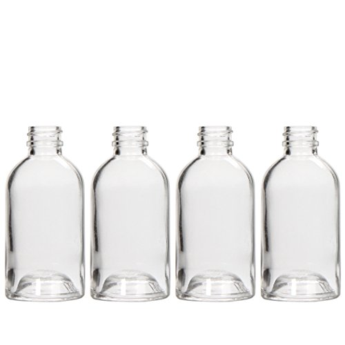 Hosley's Set of 4 Diffuser Boston Round Style, Glass Diffuser Bottles, 85 ml LARGE. Great for storing Essential Oils, DIY Diffusers, Craft Projects, Wedding, Party O9