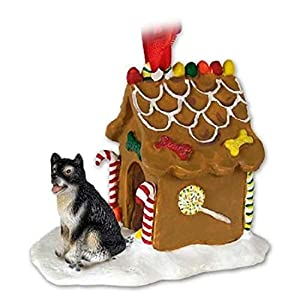 Conversation Concepts Alaskan Malamute Gingerbread House Christmas Ornament - Delightful! 24