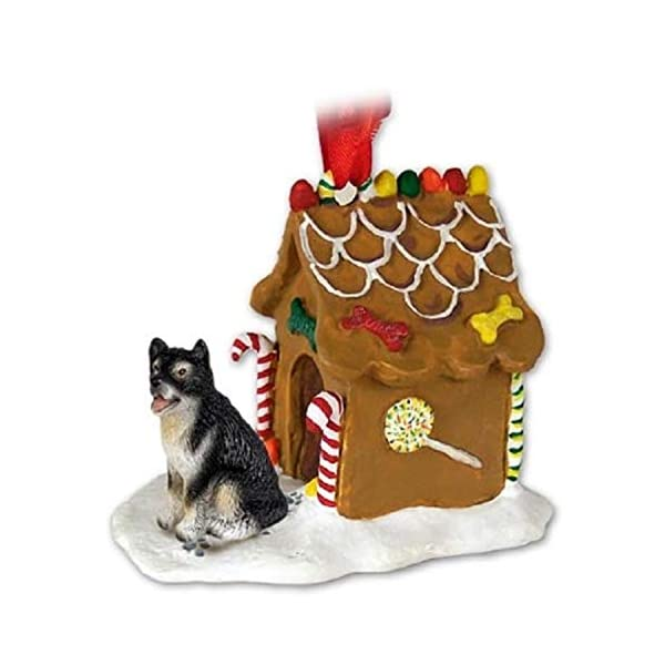 Conversation Concepts Alaskan Malamute Gingerbread House Christmas Ornament - Delightful! 1