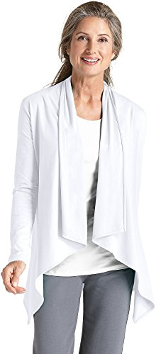 Coolibar UPF 50+ Women's Sun Wrap - Sun Protective,Large,White by Coolibar