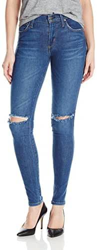James Jeans Women's Twiggy Mid-Rise Legging Jean with Knee Slits in Victory