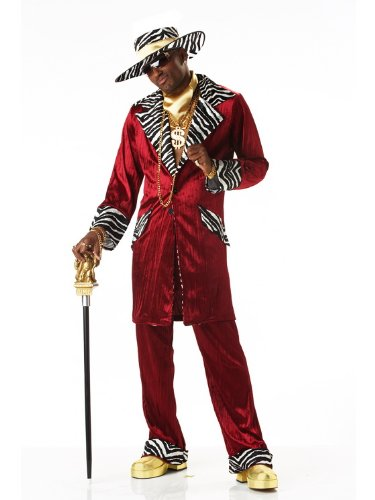 Halloween Pimp Costumes (California Costumes Men's Sweet Daddy Beaujolais Costume, Large)