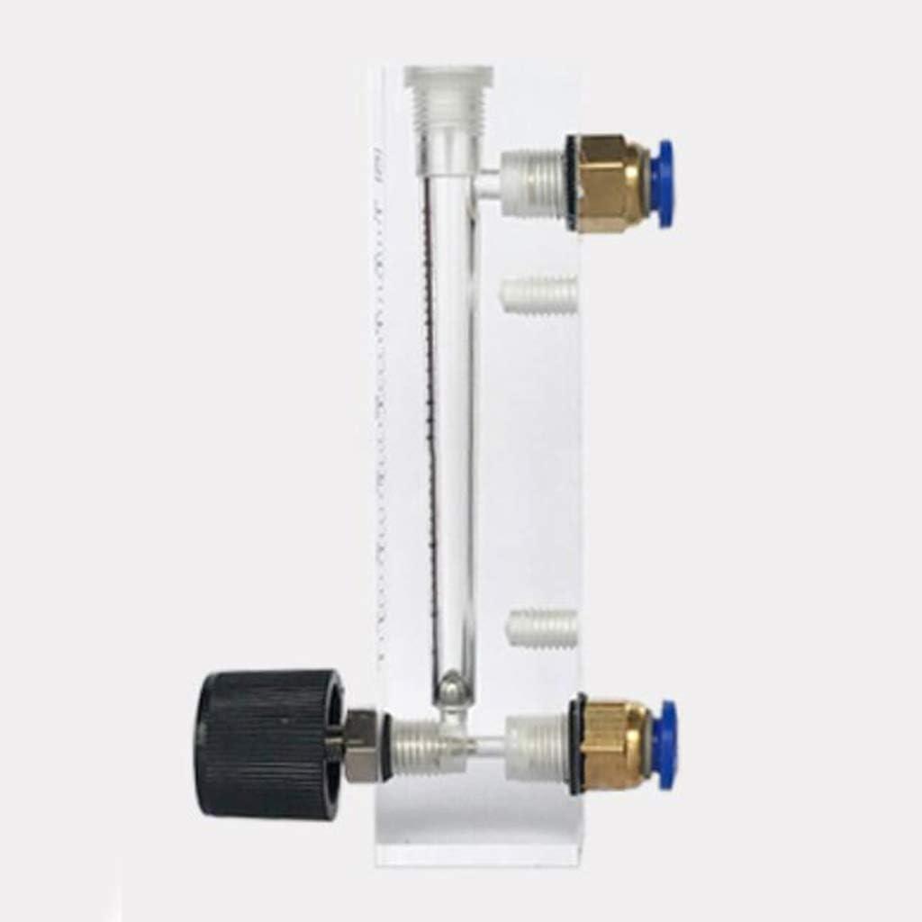 B Baosity Gasdurchflussmesser Durchflussmesser mit Regelventil f/ür Sauerstoff//Luft//Gas