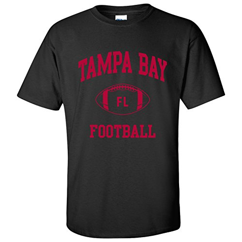 - Tampa Bay Classic Football Arch Basic Cotton T-Shirt - X-Large - Black