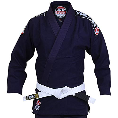 Valor Bravura BJJ GI Navy with Free White Belt