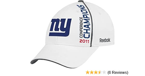 NFL Men's New York Giants 2011 NFC Conference Champions Locker Room Hat  (White, One Size Fits All)