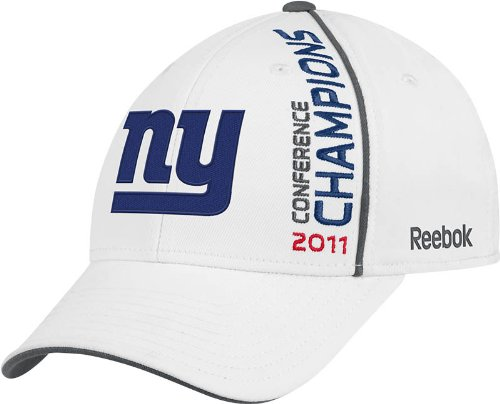 NFL Men's New York Giants 2011 NFC Conference Champions Locker Room Hat (White, One Size Fits All) (Nfl Hats Reebok)