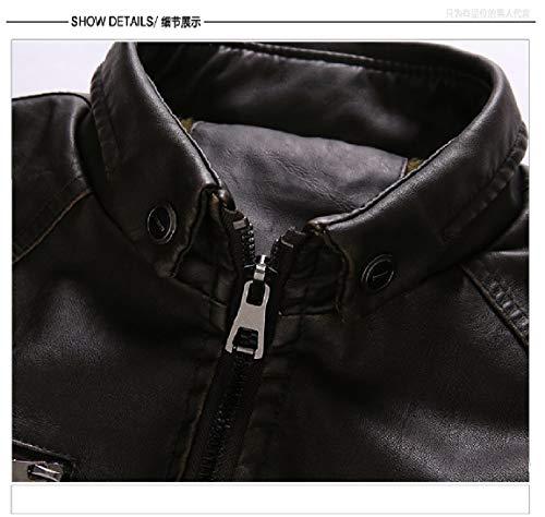 Lavato Nero Basamento Outwear Il Velluto Collare Trincea Più Di Mogogomen Cappotto Pu Retrò Del ICOqwFF4T