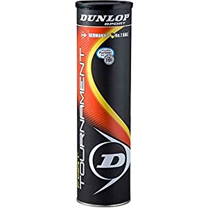 Dunlop Tennisbälle Fort Tournament 3 + 1, Gelb, One Size, 000035065