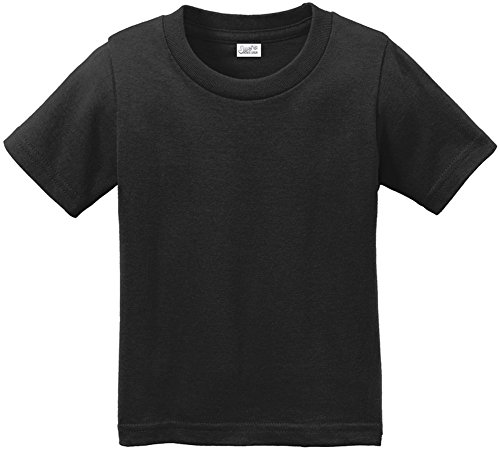 Joe's USA(tm Toddler Tees Soft and Cozy Cotton T-Shirt Size-3T,Jet Black