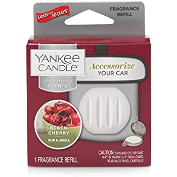 Yankee Candle Charming Scents Car Air Freshener Refill, Black Cherry