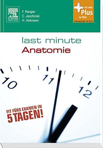 Last Minute Anatomie  Mit Zugang Zum Elsevier Portal