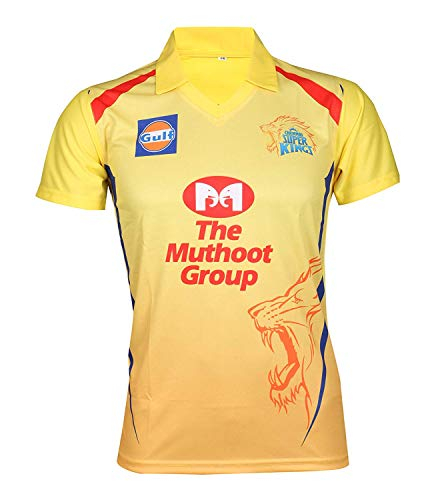 0edf7d4bfac0 IPL Cricket CSK 2019 Jersey Supporter T Shirt DHONI 7 Custom Print Name No  Chennai Super Kings Uniform(Custom