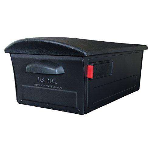 (Gibraltar Mailboxes Mailsafe Large Capacity Rust-Proof Plastic Black, Post-Mount Mailbox, RSKB0000)