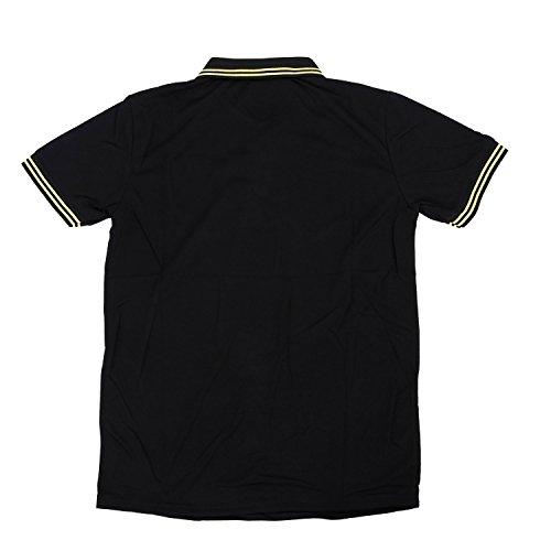 TOOGOO (R) NEU Premium K-POP Design Kitz Grund Schlankes POLO T-Shirt - Schwarz - XL